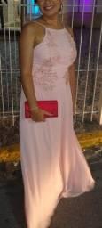 Título do anúncio: Vestido de festa casamento longo nude rose