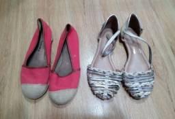 Sapatos n 33 e 34