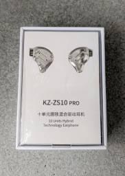 Fone KZ ZS10 PRO Novo Lacrado, Sem Microfone