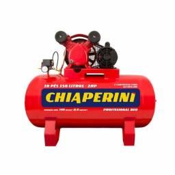 Compressor de ar média pressão 10 pcm 150 litros - Chiaperini 10/150 RED