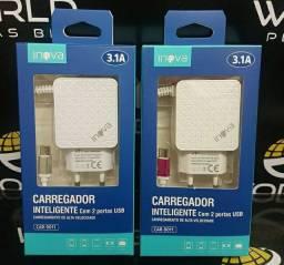 Carregador Inteligente Inova 3.1 (2 entradas USB)