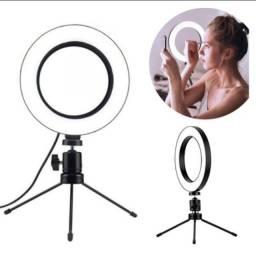 Ring light de mesa  iluminador de  led 6 polegadas