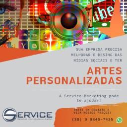 Artes Personalizadas ou Gerenciamento em Mídias Sociais
