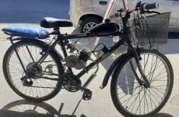 Bicicleta com kit completo motorizada 80cc