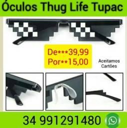 Óculos Thug Life TikTok Tupac Mosaico Importado Novos*Promoção