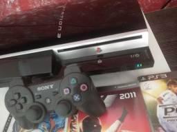 Ps3 Fat destravado 26 jogos 1 controle + loja p baixar jogos de graça<br>