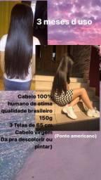 Mega d cabelo liso humano