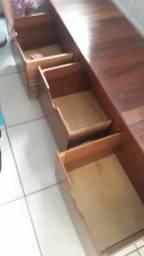 Gaveteiro madeira contato *
