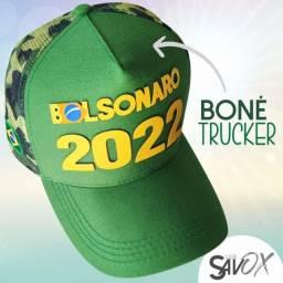 Boné Bolsonaro Presidente - Bordado E Silk 3d Alto-relevo