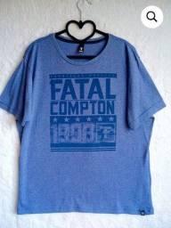 camiseta fatal surf azul estampa