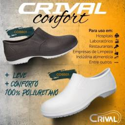 Título do anúncio: Tênis Crival Preto ou Branco Antiderrapante - Profissional Sapato Polimerico