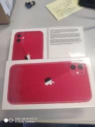 iPhone 11 - 256gb vermelho, lacrado com nota fiscal e garantia de 1 ano