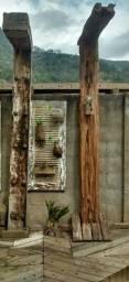 Ducha modelo cascata de madeira dormente
