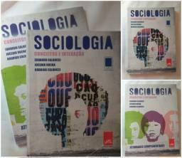 Livro de Sociologia Conceitos e Interação + Livro de Atividades Complementares