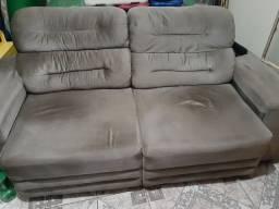 Sofa 3 lugares retratil e reclinavel linoforte