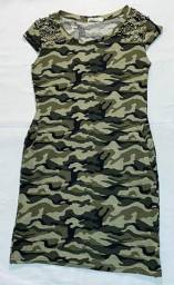 Vestido Militar soltinho