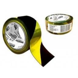 Fita Adbertencia Zebrada Amarela Bestfer BFH1571