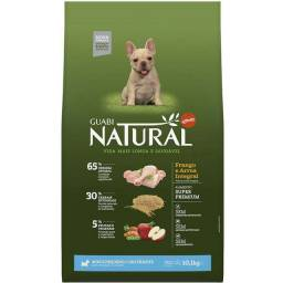 Ração Guabi Natural Frango e Arroz Integral para Cães Filhotes Raças Mini e Pequena 10,1kg