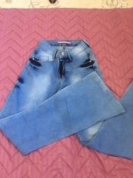 Calça jeans boca larga