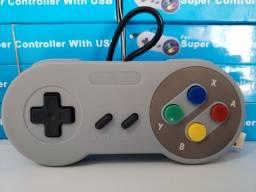 Controle Usb Super Nintendo Snes Joystick Windows Mac Linux R$40,00