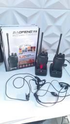 2 walkie-talkie kit profissional
