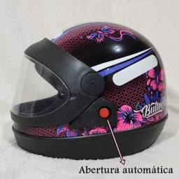 Capacete Moto Feminino Butterfly | Tamanhos 58 e 60