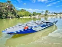 Barco Calaça Motor 15hp Super Mercury mais Carreta