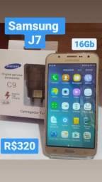 Samsung J7. Parcelo no cartão