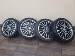"Jogo de rodas aro 18"" Tsw Mak Italy 5 furos + Pneus Toyo 235 40 18 91W ( 235/40/18 91W)"
