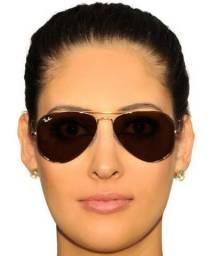 Óculos Ray-Ban Aviador - Modelo 3025 (Marrom e Dourado)