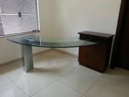 Mesa Escritório de Vidro Luxo