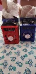 Caixas acústicas bluetooth led radio usb cartão etc