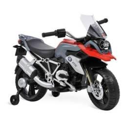 Moto Elétrica Infantil Bmw GS 12V Acende Farol Acelerador Punho