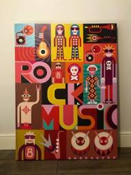 Tela impressa Rock Music