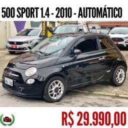 FIAT 500 2010/2010 1.4 SPORT 16V GASOLINA 2P AUTOMATIZADO - 2010