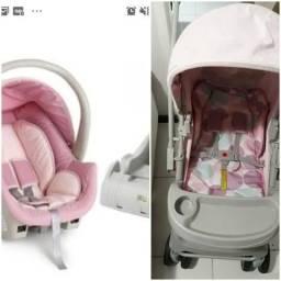 Bebê conforto galzerano com base e carrinho galzerano