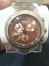8d6e605975d Relógio swatch diaphane rose original
