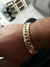 491b0e8ad10 Pulseira ouro 18 k com 28 g