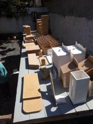 Lote de caixas de MDF para artesanato