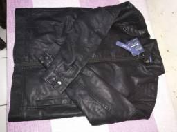 Jaqueta masculina em couro