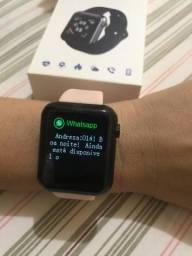 Pra ir Logo !! Smartwatch NOVO!! Pode colocar fotos!! (Aceito Cartão)