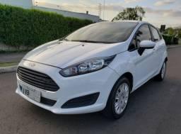 Único Dono New Fiesta Hatch Branco 2014 Placa I Manual e Chave Reserva