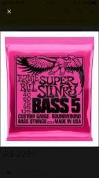Encordoamento pra baixo de 5c 0.40 Ernie Ball Super Slinky PROMOÇÃO