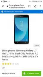 Galaxy J7 Neo dos novos J701M pego troca