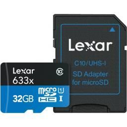 MicroSD 32GB Lexar, classe 10