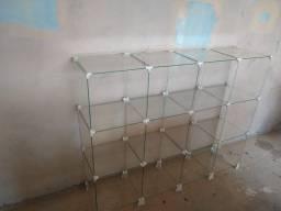 Prateleira expositor balcão de vidro