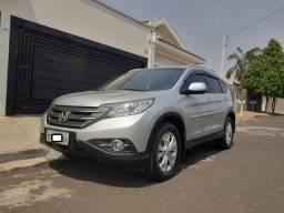 Honda CR-V LX 2.0 Flex Automática+Completa+Couro-Troco/Financio