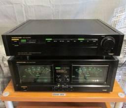 Amplificador de potência Onkyo M-5590 + pré-amplificador P-3390