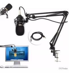 Suporte Pedestal Braço Mesa Articulado Para Microfone