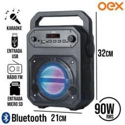 Caixa De Som Oex Speaker Fun Sk415 90w - Preto/Laranja